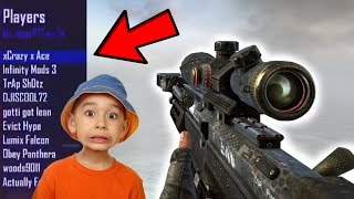 GIVING TRICKSHOTTERS AIMBOT (KID GOES CRAZY)