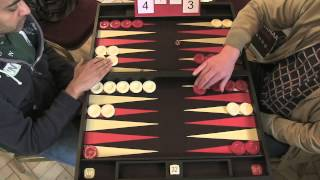 getlinkyoutube.com-The Backgammon London Open 2013: Feature Match 9 - Raj Jansari VS Andy Kindler