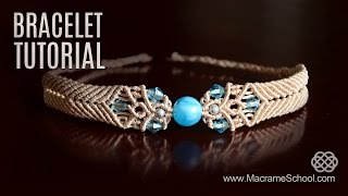 getlinkyoutube.com-Big Bead Boho Bracelet Tutorial by Macrame School