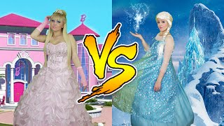 getlinkyoutube.com-BARBIE VS FROZEN