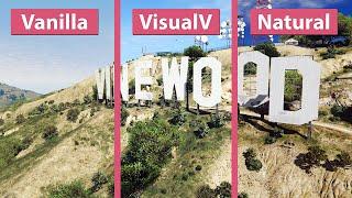 getlinkyoutube.com-GTA 5 – Vanilla vs. VisualV vs. NaturalVision Photorealistic Graphics Mod Comparison