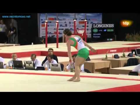 Kieran Behan FX EF European Championships Montpellier 2012