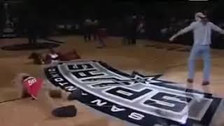 getlinkyoutube.com-WWE Shawn Michaels Sweet Chin Music to NBA Mascot