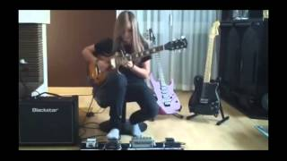 getlinkyoutube.com-TINA S. Best female guitarist shreds to  Sweet Child O Mine Solo [HD] 2015