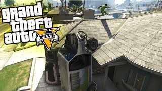 getlinkyoutube.com-GTA 5 Online Funny Moments & Glitches - Wall Breaches, Car Launches , and Fails