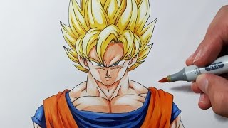 getlinkyoutube.com-How to draw Goku Super Saiyan - Step by Step Tutorial!
