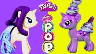 getlinkyoutube.com-Play Doh My Little Pony POP Rarity & Princess Luna Toys Style Design Build MLP Bracelet