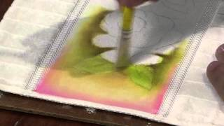 getlinkyoutube.com-Mulher.com 15/03/2013 Luciano Menezes - Pintura em tecido rosas  parte 1
