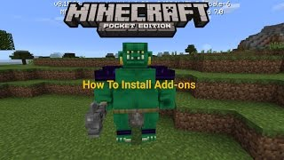getlinkyoutube.com-How To Install Add-ons - Minecraft PE 0.16.0