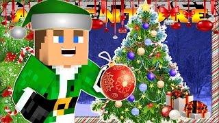 getlinkyoutube.com-Minecraft Christmas - Little Donny - CHRISTMAS TREE & GINGERBREAD HOUSE DECORATING
