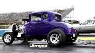getlinkyoutube.com-TIM REISEN'S BAD BLOWN '30 FORD MODEL A 5 WINDOW COUPE AT BYRON