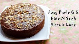 getlinkyoutube.com-Parle G Biscuit Cake Recipe | Easy Eggless Cake using Biscuits | Magic of Indian Rasoi