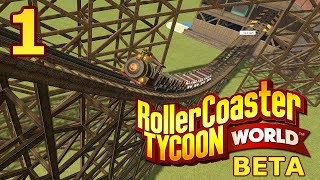 getlinkyoutube.com-RollerCoaster Tycoon World BETA - Part 1 - Looking Great!