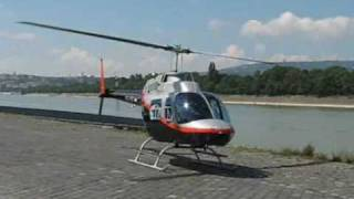 getlinkyoutube.com-Bell 206 JetRanger HA-LFU helicopter Takeoff /flight/ landing