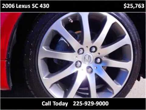 2006 Lexus SC 430 Used Cars Baton Rouge LA