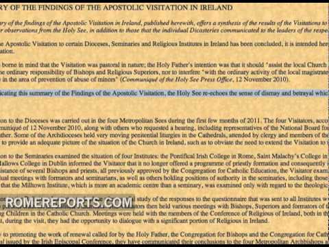 Vatican releases conclusion on its Apostolic Visit to Ireland