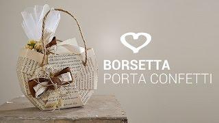 getlinkyoutube.com-Tutorial: Come realizzare una borsetta di carta porta confetti - La Figurina
