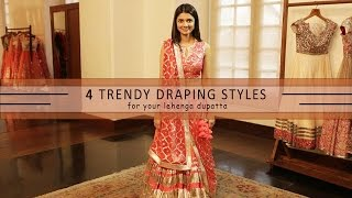 getlinkyoutube.com-How To Wear Your Lehenga Dupatta In Different Styles | 4 Ways