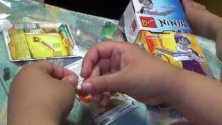 getlinkyoutube.com-bozhi 닌자고 여자 로봇 픽셀 레고 짝퉁 장난감을 조립하는 아이의 모습