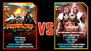 getlinkyoutube.com-Real Steel WRB DREADLORD VS Twin Cities NEW ROBOT Halloween (Живая Сталь)