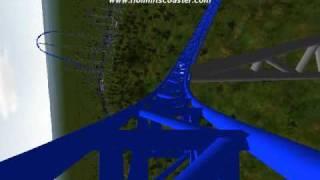 getlinkyoutube.com-AfterBurner-Custom Nolimits 500ft Tall Roller Coaster