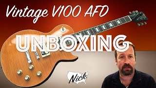 getlinkyoutube.com-Vintage V100 AFD PA RA DI 53 Unboxing - Slash Paradise City Stylings! (not Gibson Les Paul)