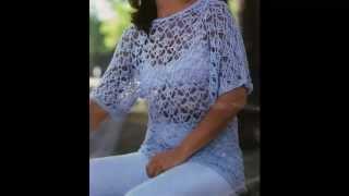 getlinkyoutube.com-Blusa Super Calada Blanca a crochet