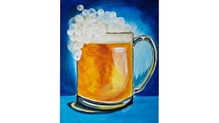 getlinkyoutube.com-St Patricks Day Beer Art with Bokeh Bubble Foam Easy Acrylic painting