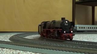 getlinkyoutube.com-1st 2017 Video! Danny's DB Eisenbahn Marklin Steam BR 52 + BR 1.10