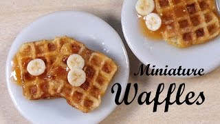 getlinkyoutube.com-Realistic Miniature Waffles - Polymer Clay Tutorial
