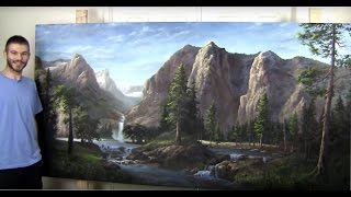getlinkyoutube.com-Sunlit Mountains [part 5] Finale | Gallery Masterpiece, Landscape Painting
