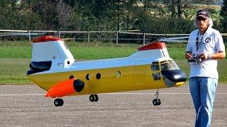 getlinkyoutube.com-BOEING VERTOL KV-107 II GIGANTIC RC SCALE MODEL TANDEM HELICOPTER FLIGHT / Hausen am Albis 2015