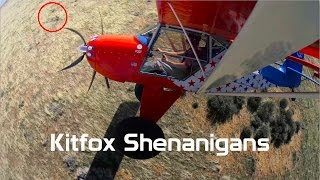 Kitfox Shenanigans, off field landings, coyote chasing, with audio