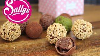 Pralinen selbst gemacht: Vollmilchschokoladenpralinen mit Nougat / DIY Geschenkidee