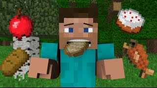 getlinkyoutube.com-If You Couldn't Eat Food - Minecraft