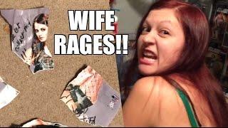 getlinkyoutube.com-WIFE RAGES GRIM HUGGED WWE DIVA PAIGE! Destroys ELITE Figure AUTOGRAPH
