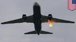 getlinkyoutube.com-バードストライク 鳥衝突で旅客機が緊急着陸