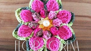 getlinkyoutube.com-Aprendendo Flores em Crochê - FLOR LORENA