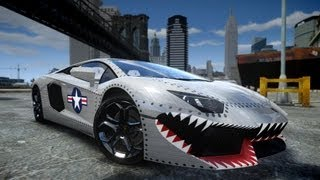 getlinkyoutube.com-GTA IV 2012 Lamborghini Aventador LP700-4 USAF Crash Testing