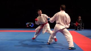 Karate1 PL, Almere 2014 - HORUNA vs. YAGCI - Kumite male -75 FINAL