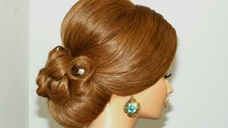 getlinkyoutube.com-Wedding prom updo,  hairstyle for long hair