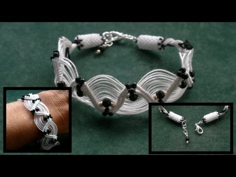 Beading4perfectionists : Macramé (friendhip bracelet for adults :-) beginners beading tutorial