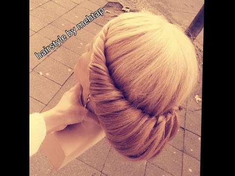 2 min hairstyles tutorial ANLEITUNG..2 dakikada topuz nasil yapilir, (hairstyle by mehtap)