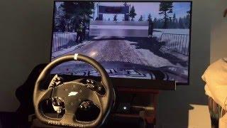 getlinkyoutube.com-DiRT Rally + Fanatec CSW V2 | Renault Alpine A110 | Sweden