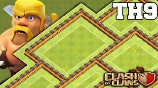 getlinkyoutube.com-Clash of Clans - (TH9) Epic Farming Hybrid Base 2016 - Anti Giant / Farming Troops