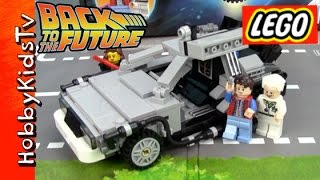 getlinkyoutube.com-LEGO Back to the Future DeLorean 21103 Review Build Trixie Minifig by HobbyKidsTV