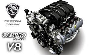 getlinkyoutube.com-PROTON Campro Turbo V8 Engine
