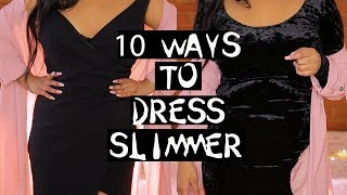 10 WAYS TO DRESS SLIMMER LOSE BELLY FAT INSTANTLY TIPS & TRICKS| NikkisSecretx