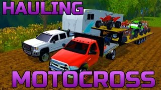getlinkyoutube.com-FARMING SIMULATOR 2015 | HAULING TOYS AND CAMPER TO THE TRACK