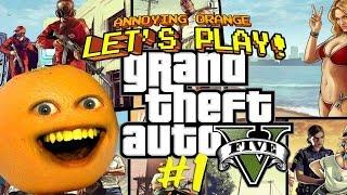 getlinkyoutube.com-Annoying Orange Plays GTA V: SECRET BUTT SHOTS!